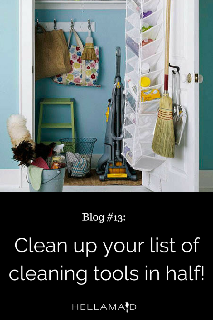 Clean and Organize your List of Cleaning Tools