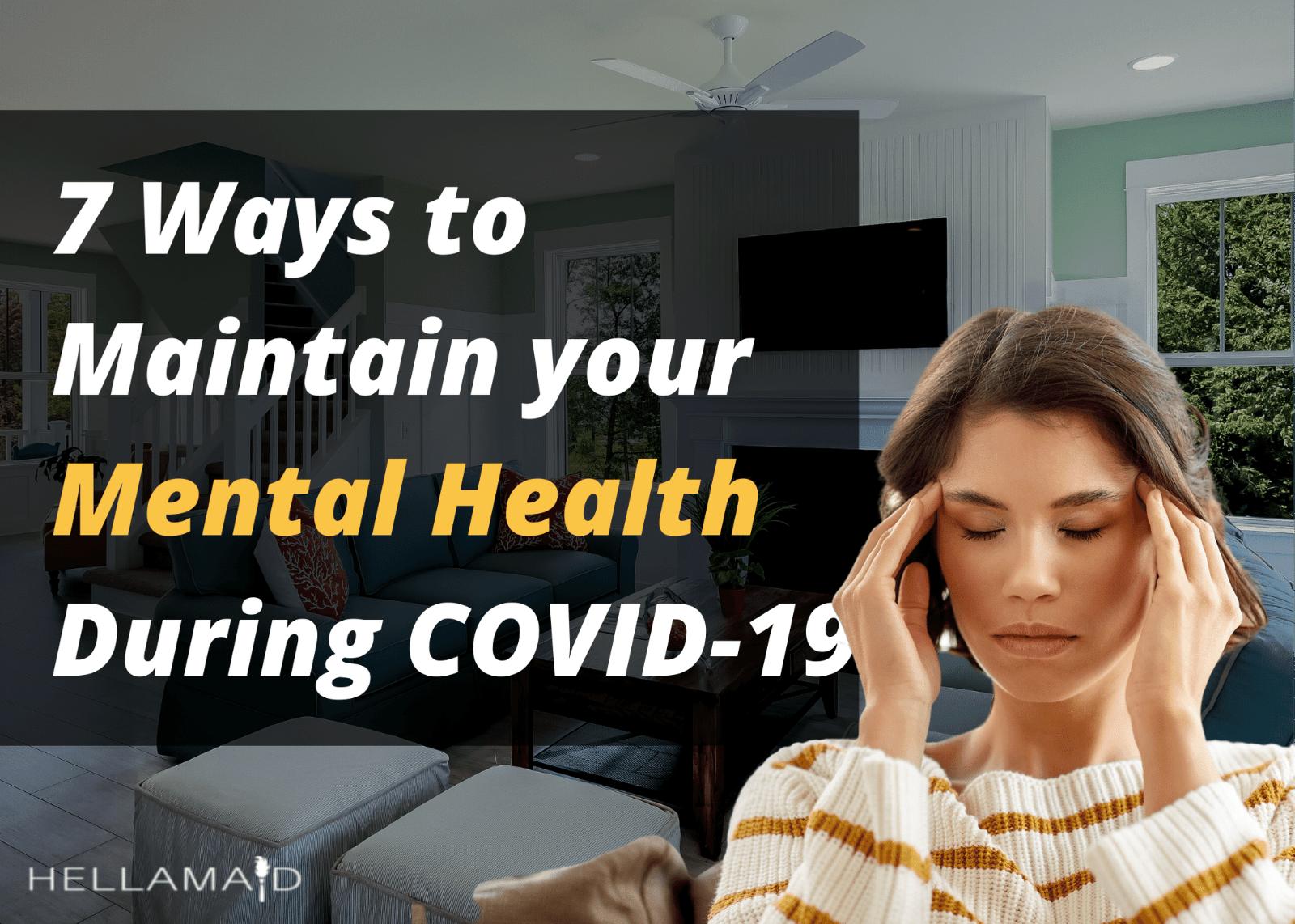 ways to maintain mental health