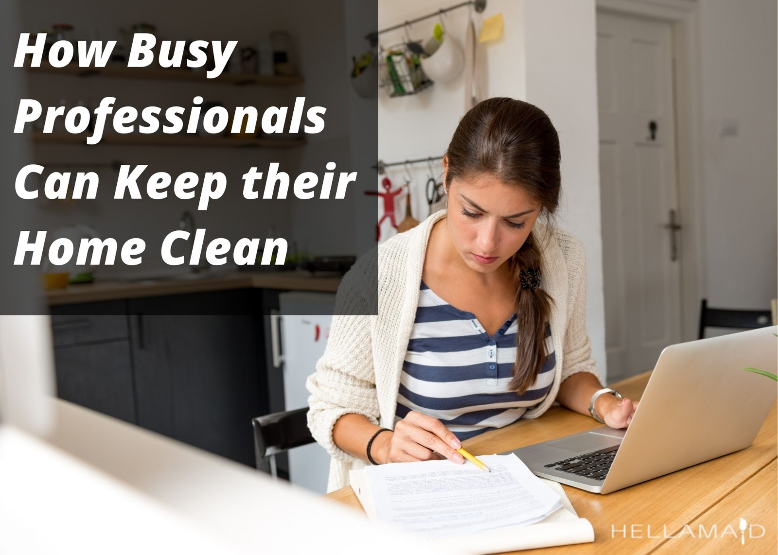 working in a clean home