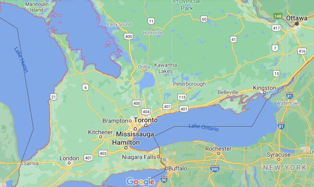 ontario map canada