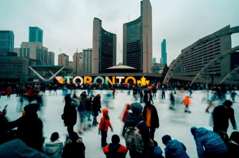 Winter in Toronto Canada Snow