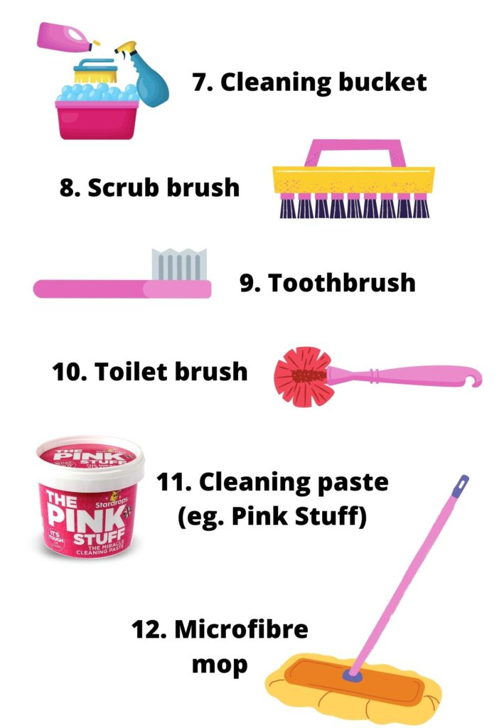 cleaning tools to use for the bathroom