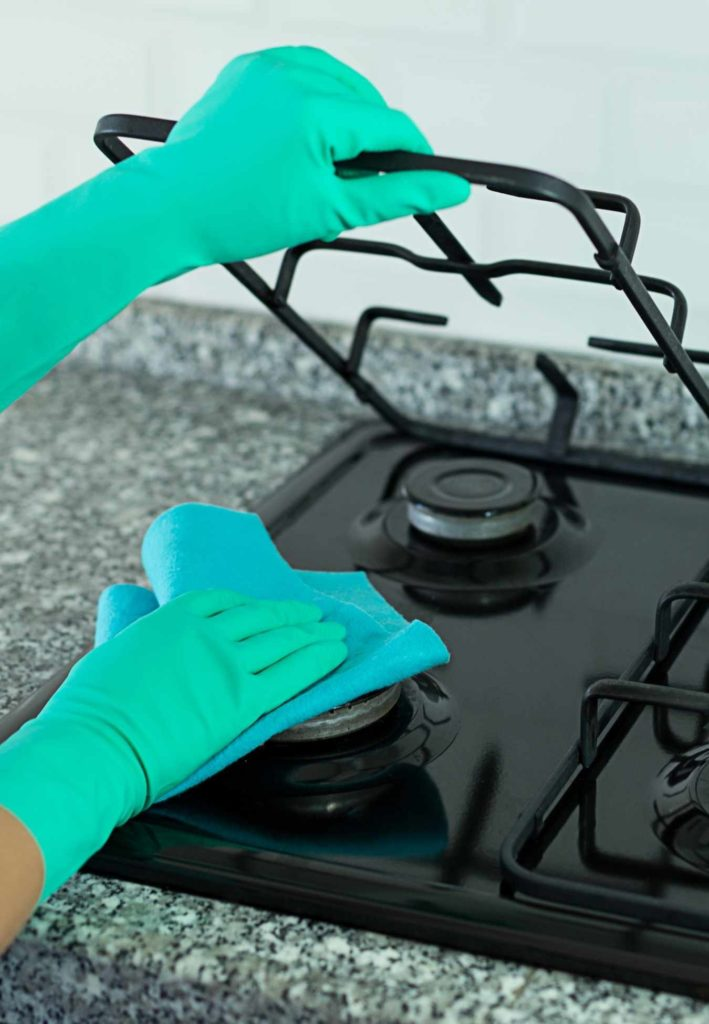 how to clean stovetop burner grates