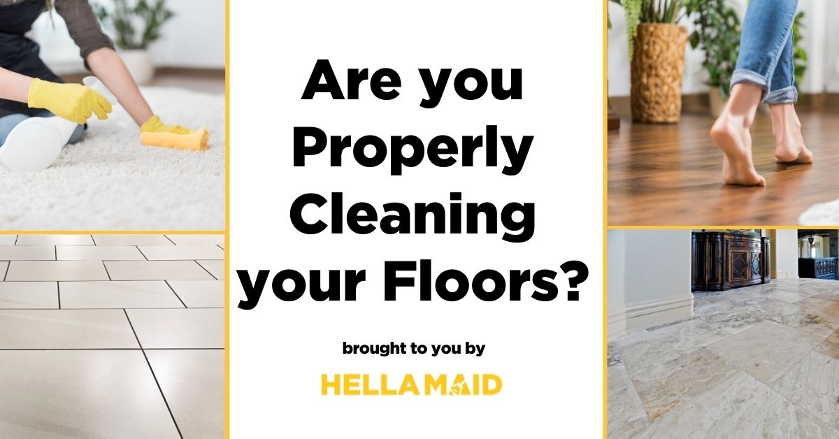Floor Cleaning guide for tile, hardwood, carpet, and stone floors